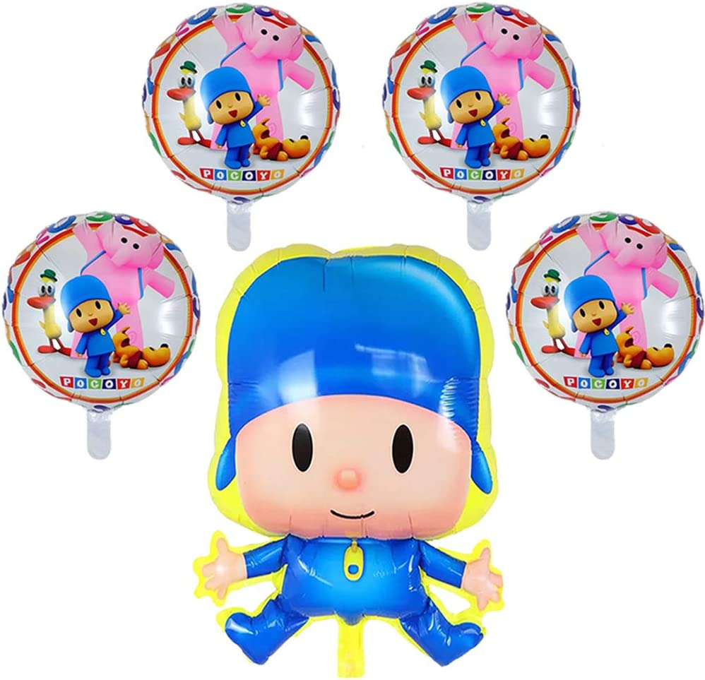 5PCS Pocoyo Balloons Birthday Party Supplies, 20