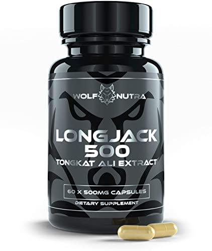 Longjack 500 Tongkat Ali Root Extract 500mg AKA Longjack, Eurycoma Longifolia, Malaysian Ginseng 30 Day Supply