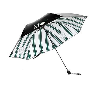 Paraguas plegable Paraguas de viaje plegable ligero y sencillo Paraguas a prueba de viento Anti-