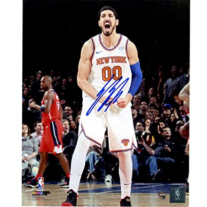 37ad4af7537 Enes Kanter New York Knicks Autographed Signed 'Scream' 8x10 Photo at  Amazon's Sports Collectibles Store
