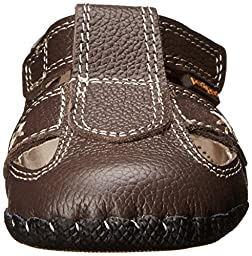 pediped Originals Martin Sandal (Infant/Toddler/Little Kid),Chocolate Brown,X-Small (0-6 months)