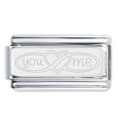 Grandma Heart Engraved Charm in Silver Plate finish - fits Nomination Classic Zt9XXH