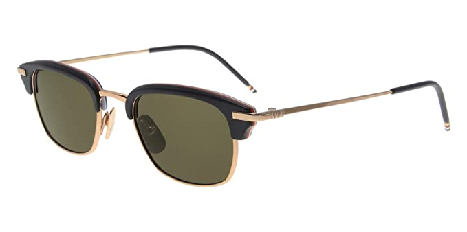 6636d8058a Amazon.com  THOM BROWNE TB-707-A-T-BLK-GLD-50 Sunglasses  Clothing
