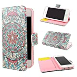 ivencase Tribal Design Wallet PU Leather Stand Flip Case Cover For Apple iPhone 5 5S + One