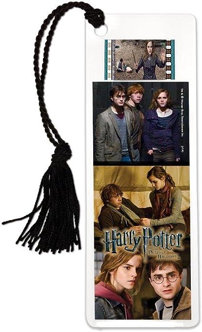 Filmcells (Reliquias de la muerte de Harry Potter Ron Harry Hermione) marcapáginas con borla y Real 35 mm Film Para IPHONE 5