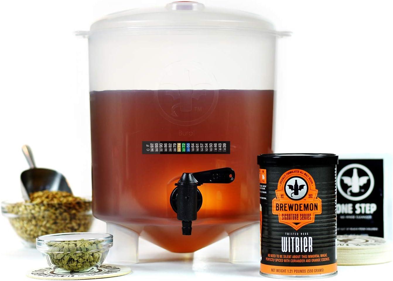 BrewDemon kit para hacer cerveza de 1 galón Twisted Monk Witbier
