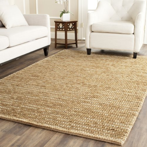 Safavieh Bohemian Collection BOH525F Hand-Knotted Beige and Multi Jute Area Rug (5' x 8') ()