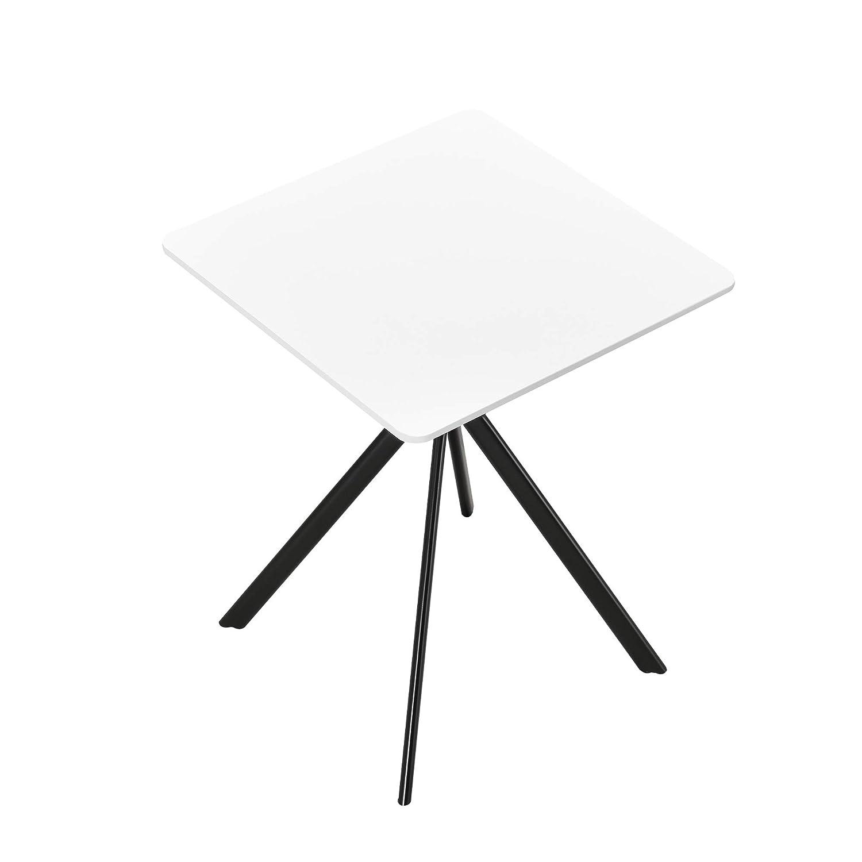 [en.casa] Tavolo da Pranzo Rettangolare di Design 60 x 60 x 75 cm Tavolino conferenze Bianco