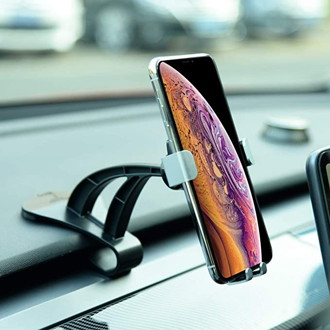 Topfit Model 3 Model Y Dashboard Cell Phone Holder Car Phone Mount With Stable Clip Base Compatible Tesla Model 3 Y Amazon Co Uk Electronics