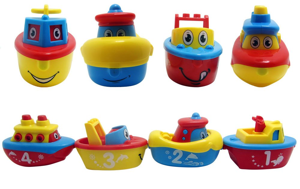 Amazon.com: 3 Bees & Me Bath Toys for Boys and Girls - Magnet Boat ...