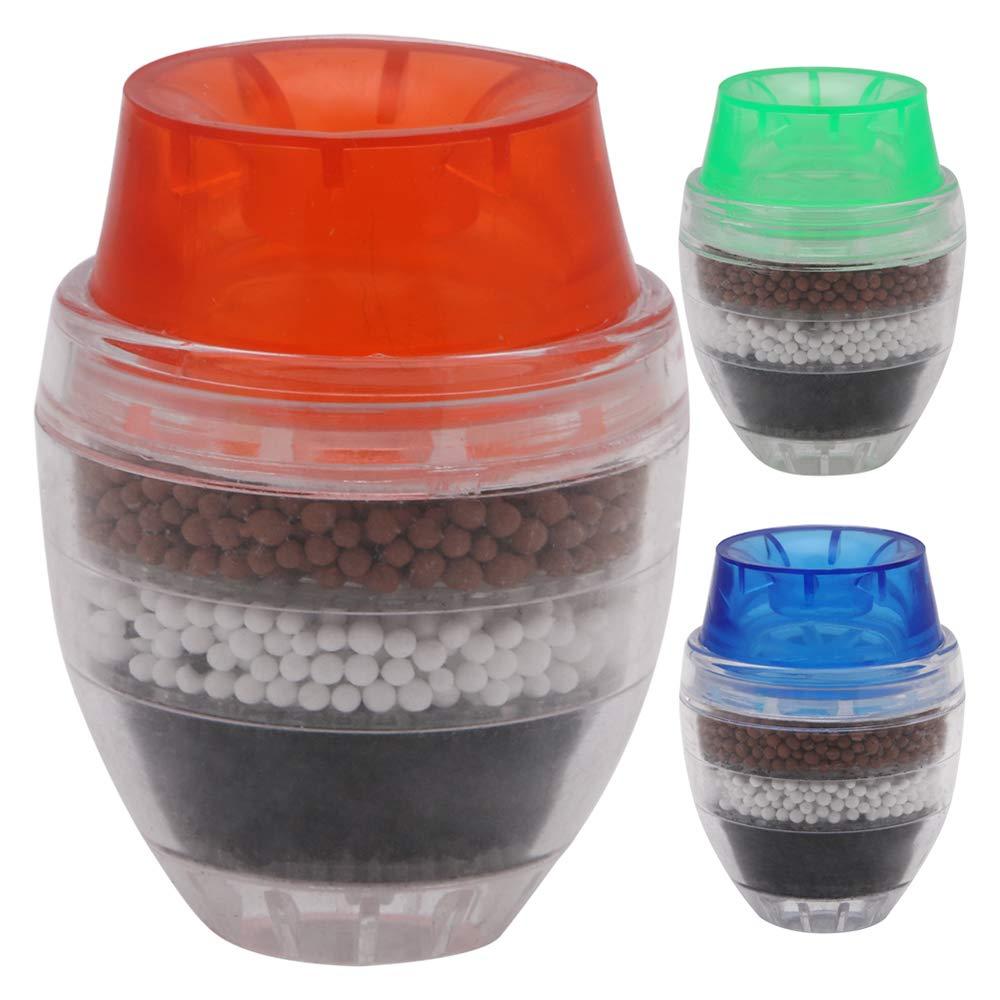 Filtro per l'acqua da Rubinetto Mini Tap Water Purifier Depuratore d'Acqua per Il Bagno della Cucina Rimuove Il Cloro Il Metallo Pesante 3 PCS Prezzi