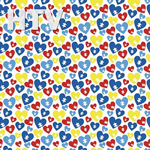 AUTISM Puzzle Pattern Craft Vinyl 1 sheet 12x48 Autism Print for Vinyl Cutters
