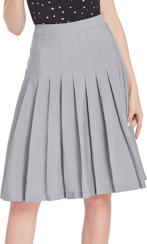 1940s Teenage Fashion: Girls Belle Poque Women Girls Skater Skirt High Waisted Pleated Skirt BPS2121 $18.99 AT vintagedancer.com