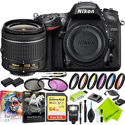 Nikon D7200 DSLR Digital Camera with Nikon 18-55mm f/3.5-5.6G Lens and Nikon 70-300mm Lens 2 Lenses Bundle