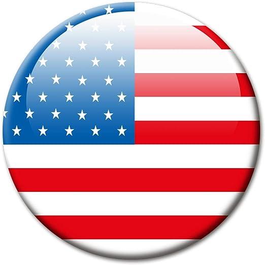Metall Magnet mit Motiv L/änderflagge Amerika f/ür K/ühlschrank Reise Souvenir K/ühlschrankmagnet Flagge USA 85x55 mm