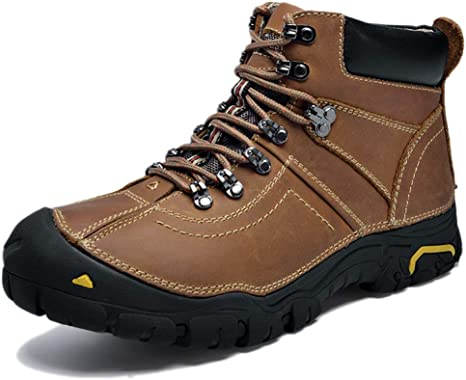 Mens Waterproof Winter Snow Warm Boots Breathable Lace Up Work Hiking Shoes UK