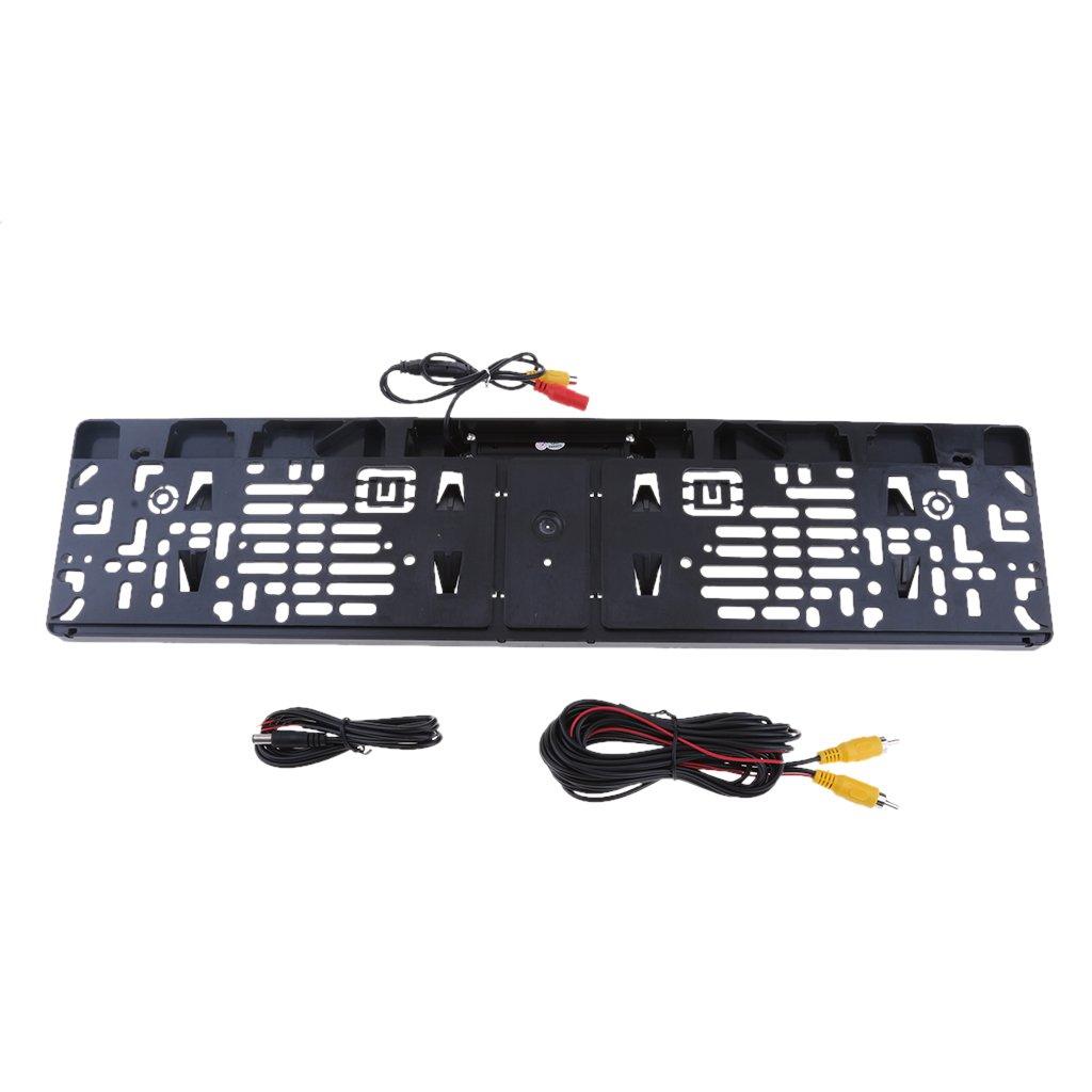 infrarot Nachsicht Funktion Wasserdicht IP 68 Einfach zu instalieren Sharplace Universal CCD HD R/ückfahrkamera mit Europ/äische Auto Lizenz Rahmen