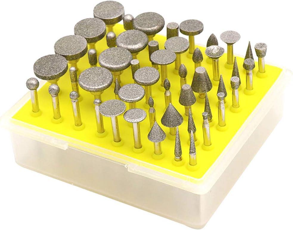 10pcs diamant Burr Bits Drill Pour Gravure Sculpture Rotary bois outil