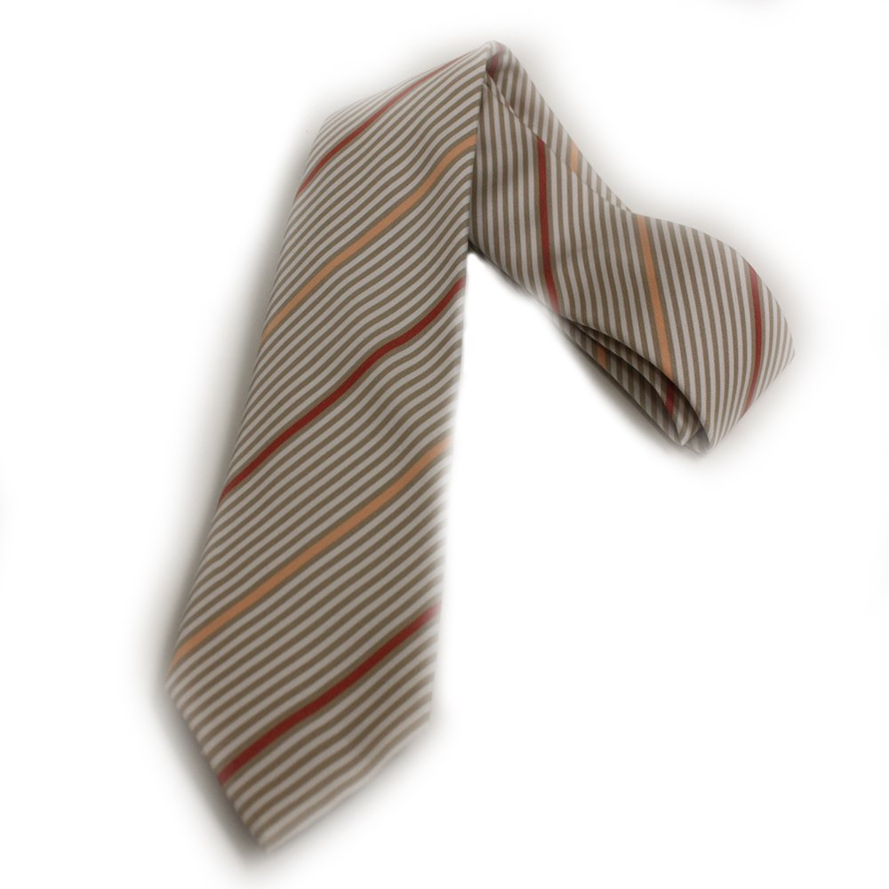 Gucci Men's Henning Stripped Beige Necktie for Men 367506
