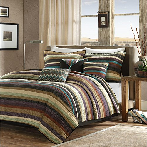 Madison Park MP13-2582 Yosemite 5 Piece Quilted Coverlet Set