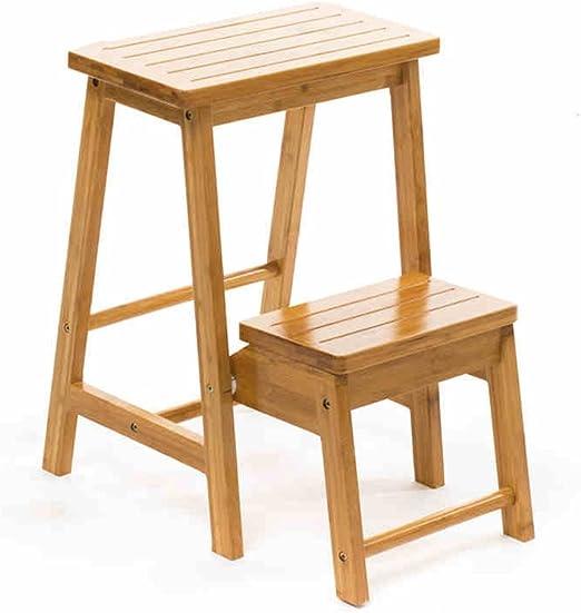 ZPMZ- Taburete plegable portátil de alto taburete plegable escalera doble uso silla plegable casa escalera plantas expositor rack: Amazon.es: Jardín