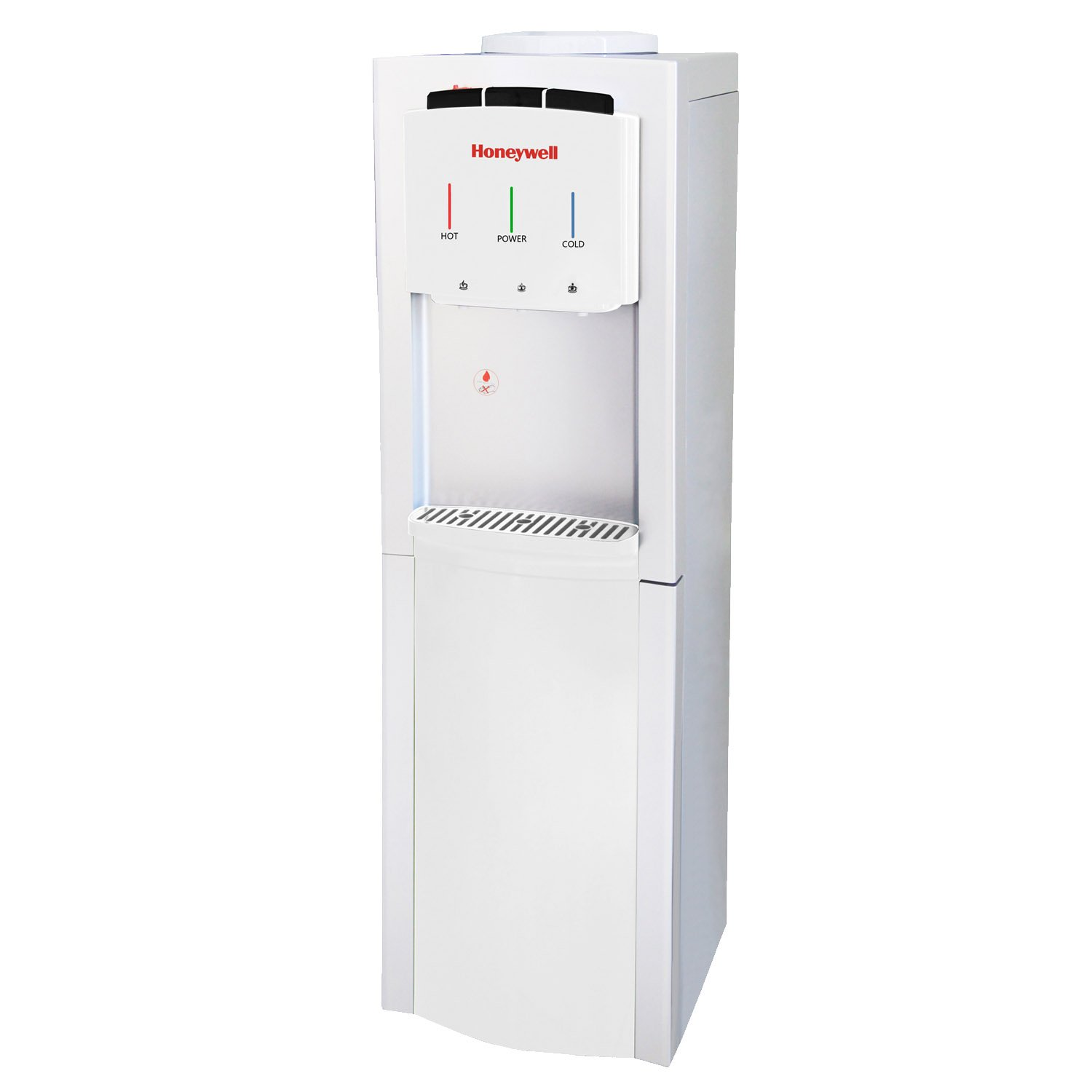 Honeywell HWB1033W Cabinet Freestanding Hot, Cold & Room Water Dispenser with Stainless Steel Tank to help improve water taste and avoid corrosion, White