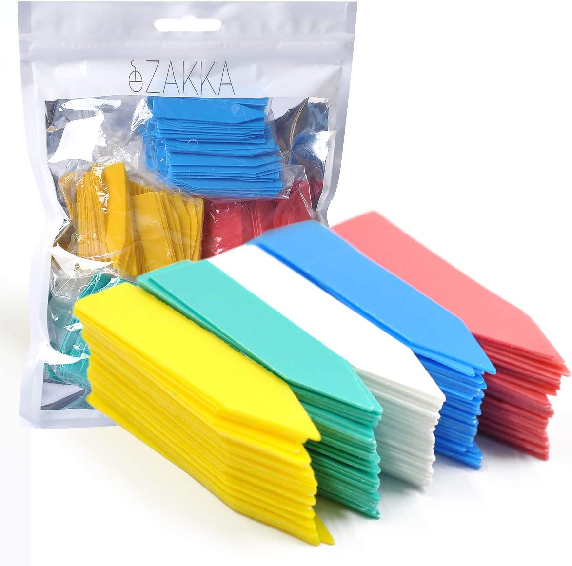 eZAKKA Plant Labels, 500pcs 2 Inches Plastic Nursery Garden Stakes Markers Tags, Multi-Color