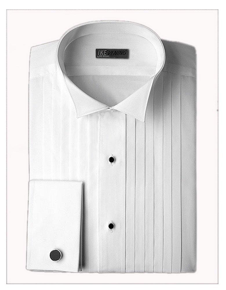 Ike Behar Wing Collar with 1/2 Inch Pleats Tuxedo Shirt (collar 19.5 - sleeve 34/35) by EZ Tuxedo