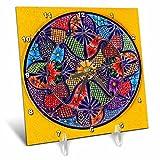 3dRose Danita Delimont - Artwork - Colorful Ceramic Mexican Plate, Guanajuato, Mexico - 6x6 Desk Clock (dc_278312_1)