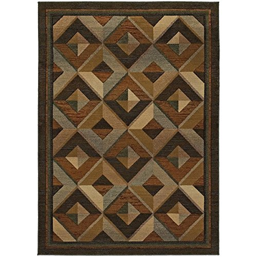 Oriental Weavers 956Q Genesis Area Rug, 2-Feet 7-Inch by 9-Feet 1-Inch, Brown/Beige