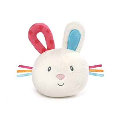 """GUND Baby Flora Bunny Silly Sounds Light Up Plush Ball, Cream, 6"""": Toys & Games"""