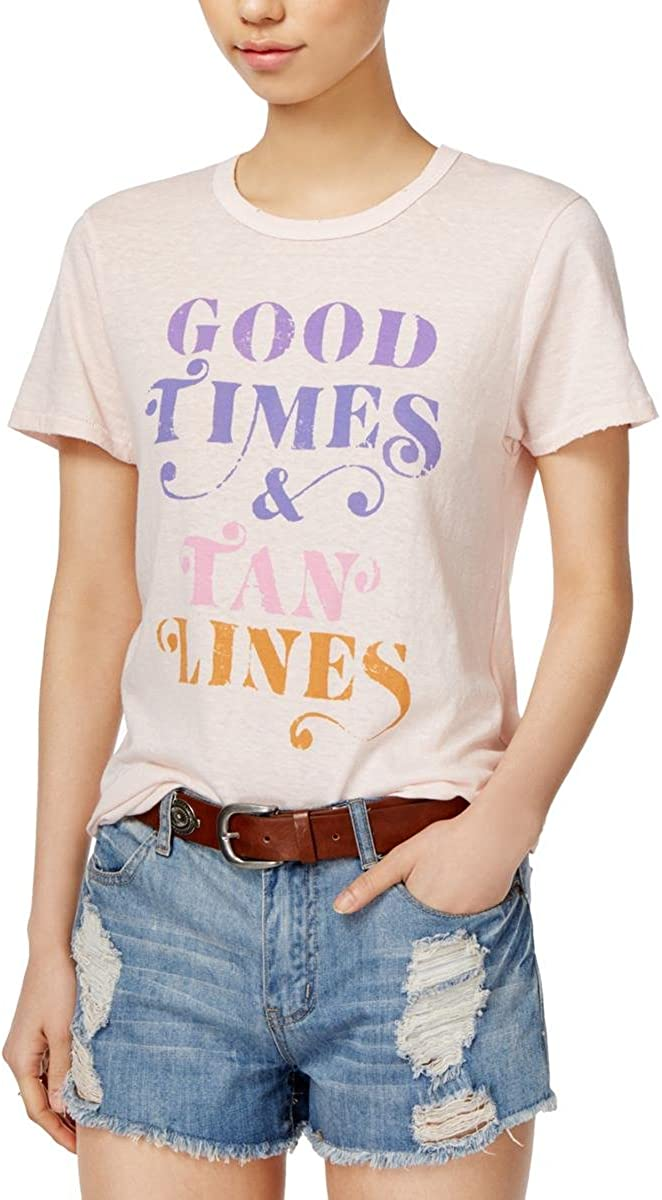 Junk Food Womens Distressed Graphic T-Shirt