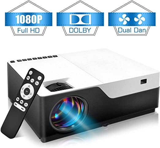 Proyector 1080p Nativo HD 5000Lux Home Theater Compatible con ...