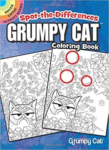 Spot-the-Differences Grumpy Cat Coloring Book Dover Little Activity ...