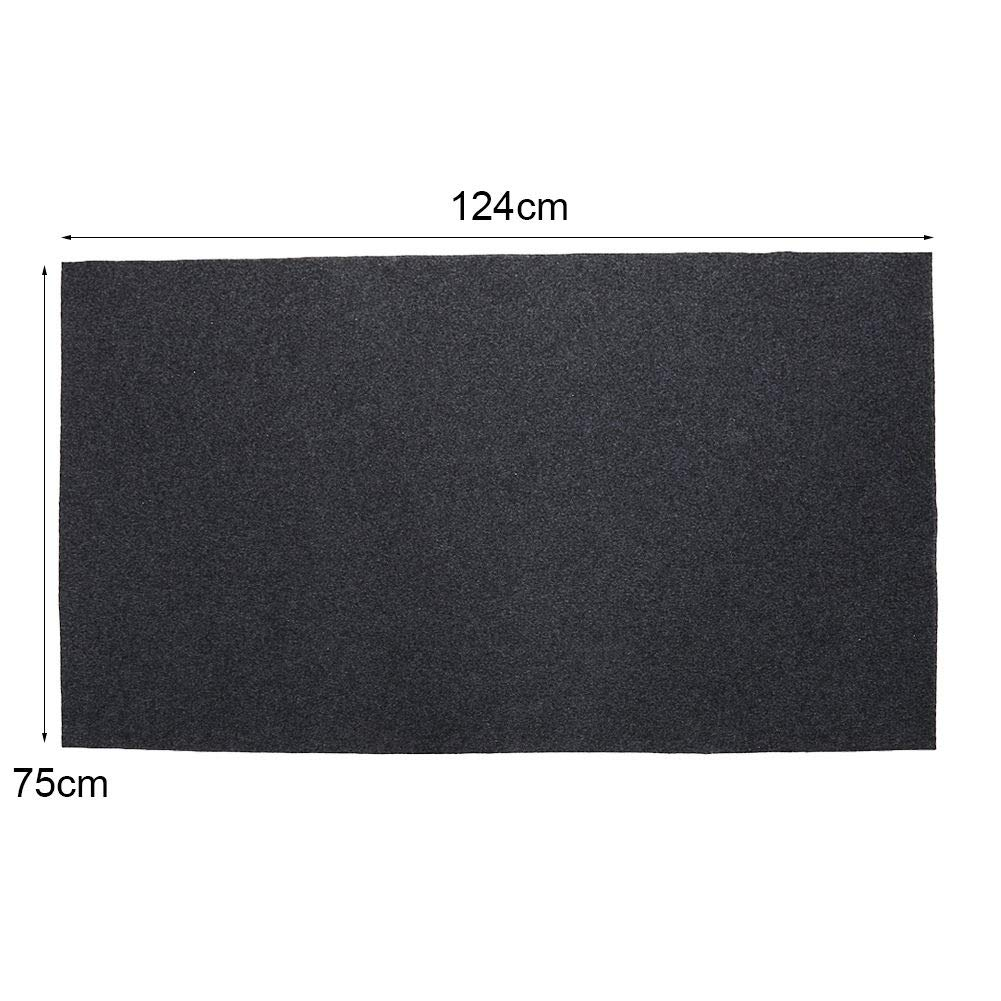 AK Energy 48'' x30''Gas Grill Mat Pad Floor Protective Fire Resistant Rug Outdoor Splatter BBQ Waterproof by AK Energy