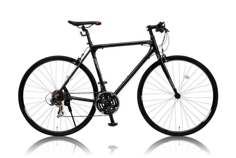 【多機能ウィンカーチェーンロック高感度5連LEDライトSET】CANOVER(カノーバー) 700×25C アルミフレーム クロスバイク シマノ21段変速 ディープリム CAC-021 VENUS ブラック B014P1M4NA