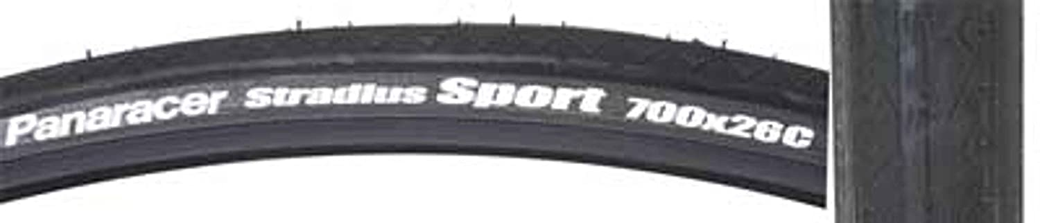 Panaracer Stradius Sport Bicycle Tire (Wire Bead, 700x26, schwarz) by Panaracer