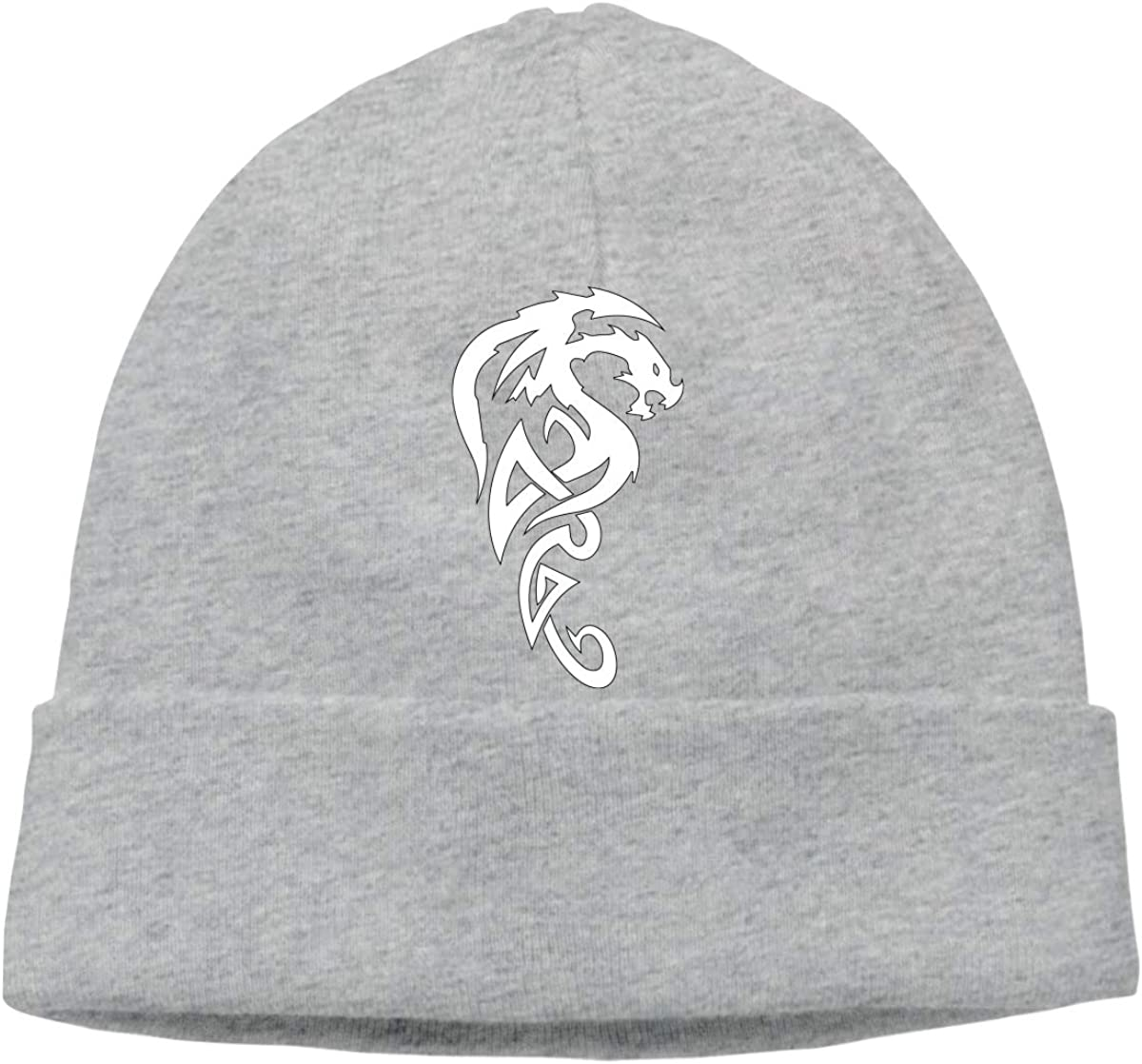 Unisex Tribal Dragon Outdoor Stretch Beanies Hat Soft Winter Knit Caps