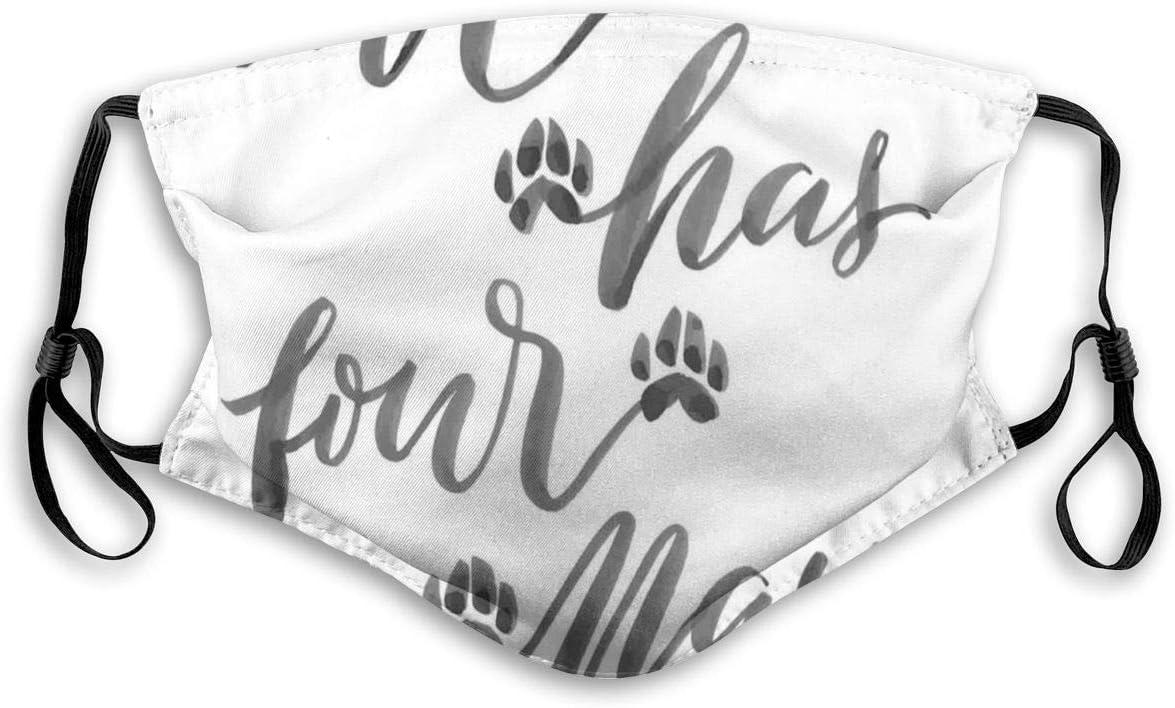 YYTT8 Gesichtsbedeckung Mundschutz Stil Hand Buchstaben Liebe hat Vier Pfoten Pinsel Kalligraphie Tierliebhaber