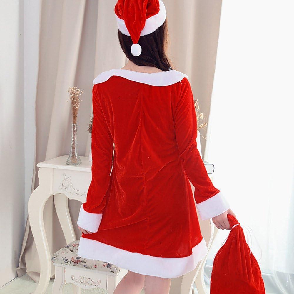 Abito Natale Donna Vestito Le Signore Annata Swing di Natale Spalla Senza Spalline Babbo Natale Donna Natalizio Partito Cocktail Cerimonia Vestiti Invernal Vintage Natale