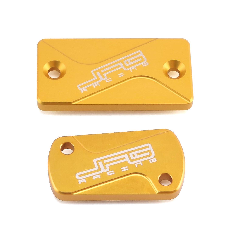 CNC Billet Front Rear Brake Reservoir Fluid Cover Cap For SUZUKI RM80 RM85 94-15 RM125 RM250 04-08 RMZ250 04-16 RMZ450 05-16 RMX450Z 10-15 RM RMZ RMX 80 85 125 250 450 450Z Dirt Bike