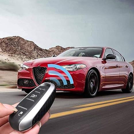 For Alfa Romeo Giulia Stelvio 2017 US Carbon Fiber ABS Switch Panel Cover Trim