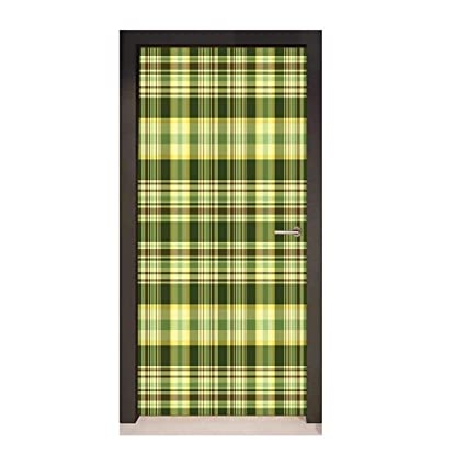 Amazon com: Olive Green 3D Door Decal Quilt Pattern Traditional