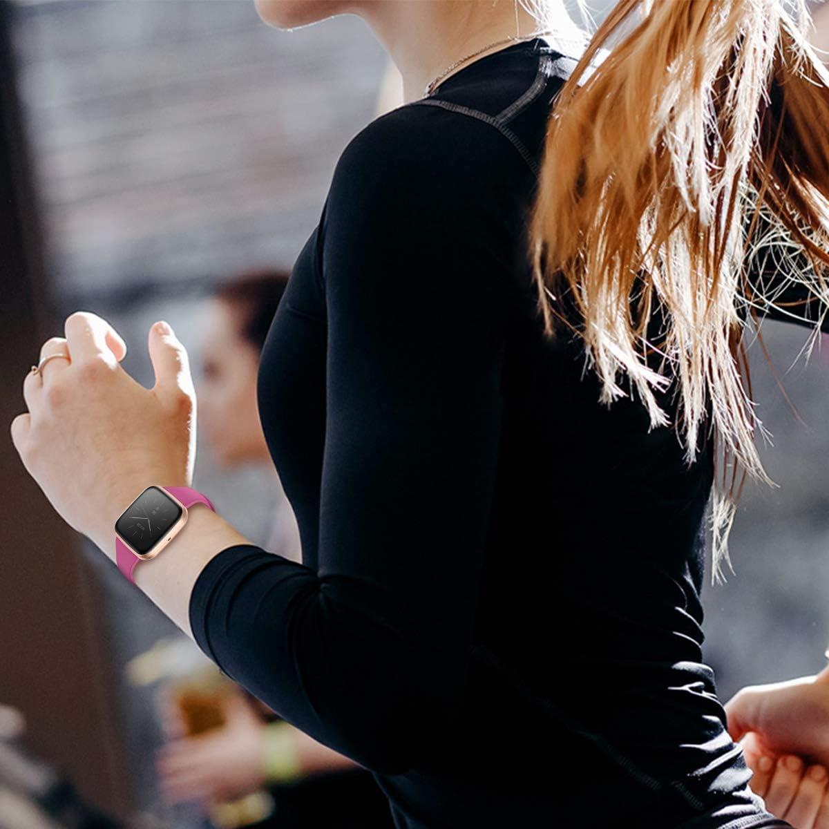 KIMILAR Armband Kompatibel mit Fitbit Versa//Versa 2 //Versa Lite//SE Armb/änder Silikon Quadratische Schnalle Schlank Ersatzband Uhrenarmband f/ür Fitbit Versa Special Edition Smartwatch