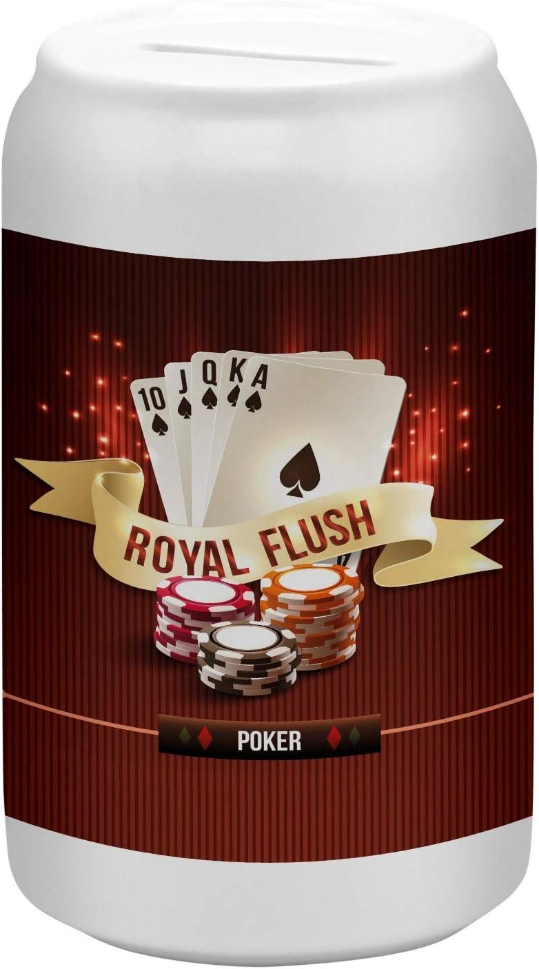 LEotiE SINCE 2004 Tirelire Bo/îte Cochon Coin Money Bank Amusant Poker imprim/ées c/éramique
