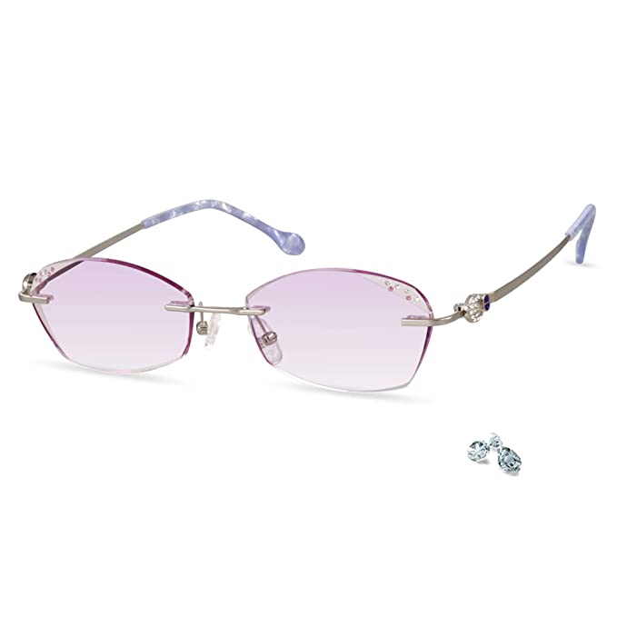 c315f71af663 LifeArt Blue Light Blocking Rimless Glasses with Diamond,Hand Made Computer  Reading Glasses,Reduce
