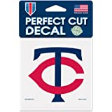 Wincraft MLB Minnesota Twins 92303010 Perfect Cut Color Decal, 4
