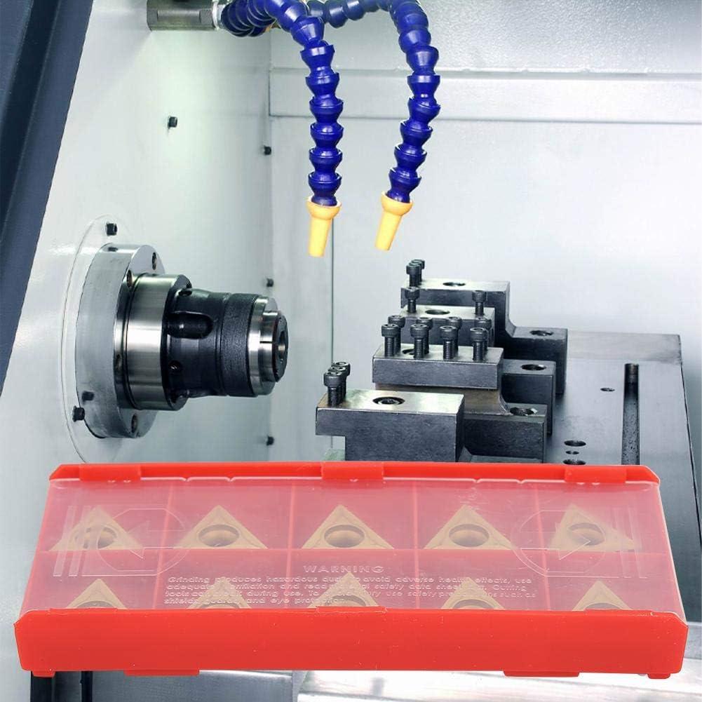 Carbide Inserts,10pcs TCMT 16T304 Triangular Tungsten Steel Carbide Blade Insert CNC Turning Tool