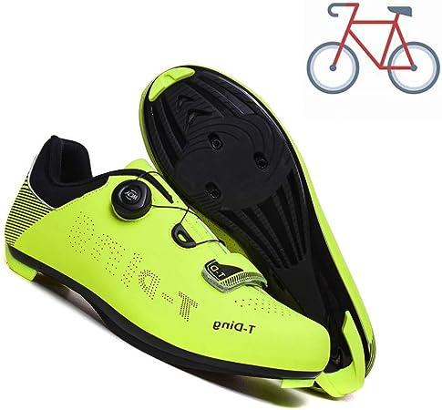 liangh Zapatillas De Ciclismo para Adultos,Zapatilla Ligeras De Deportivas, Zapatillas De Bicicleta Carretera,Antideslizantes Y Transpirables,D-EU40: Amazon.es: Hogar