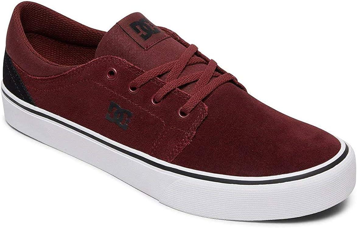 DC Shoes Trase SD, Chaussures de Skateboard Homme Noir Black Dark Red